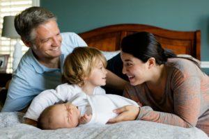 4人家族の写真